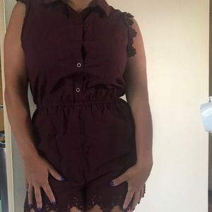 Plum romper from Urban Outfitters